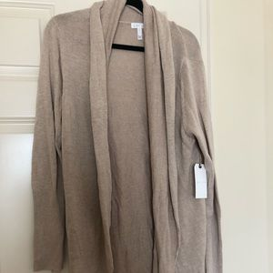 🌲 NWT Leith Shawl Collar Cocoon Cardigan tan L